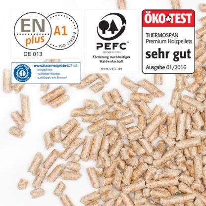 Thermospan Holzpellets Premium Zertifikate